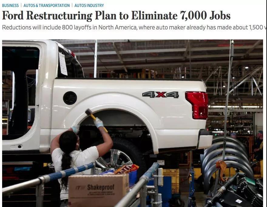 福特宣布全球大规模裁员,矛头指向中层,7000人失业-Moka智能化招聘系统